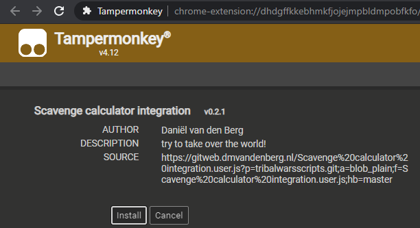 Tampermonkey screen